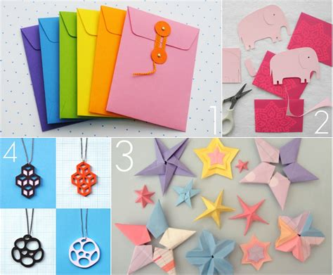 Paper Crafts Projects - omiyage blogs diy pretty paper projects
