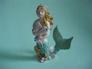 vintage mermaid ornament home decor tree decoration ocean ganz home decor christmas spring blissful journey