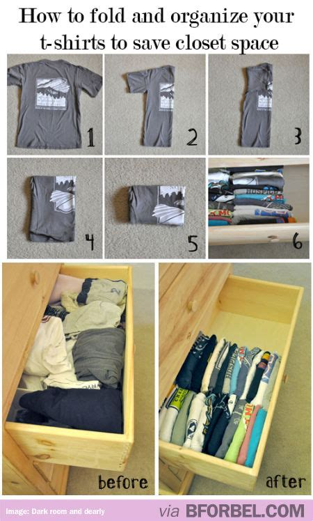 organizing shirts in closet how to fold and organize your t shirts to save closet
