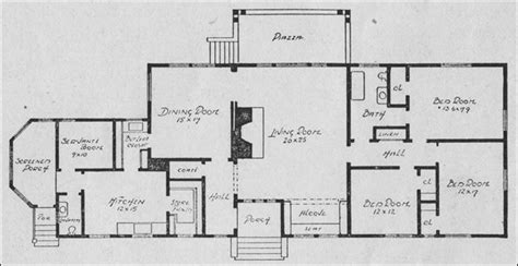 rectangular bungalow floor plans planning the bungalow henry l saylor 1911 house