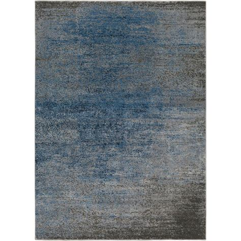 surya contemporary rugs surya amadeo denim 5 ft 3 in x 7 ft 3 in indoor area rug ado1010 5373 the home depot