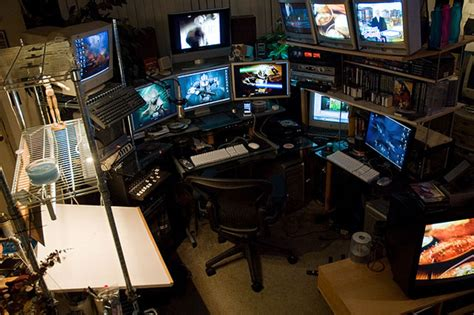 gaming room setup ultimate computer setups cool computer room design