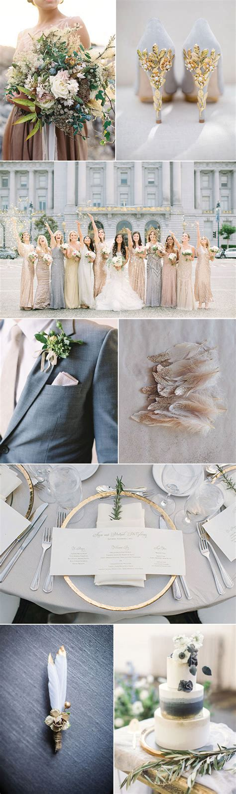 grey and gold glam gray and gold wedding ideas bows n ties com