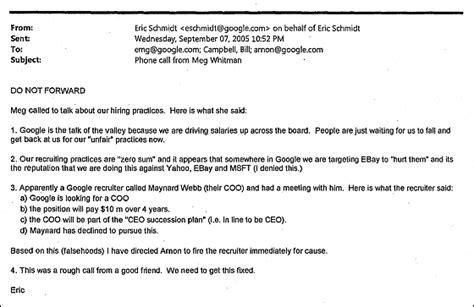Release Letter For Non Compete Apple Googleらの結んでいた秘密協定はさらに大規模であると暴露される Gigazine