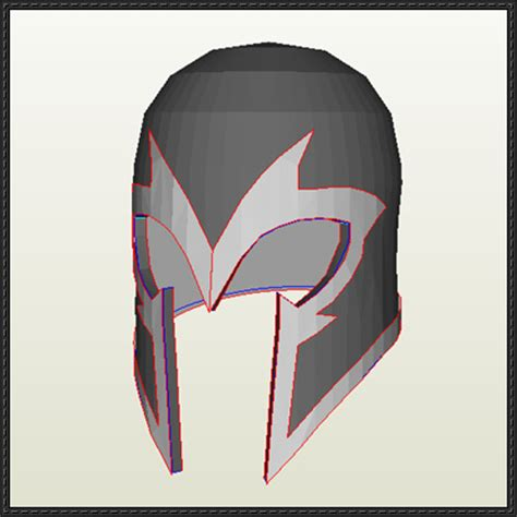 magneto helmet template class magneto s helmet papercraft for