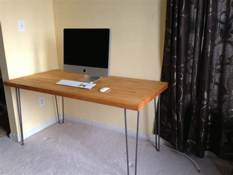 how to make your own desk make your own desk at any height using hairpin legs