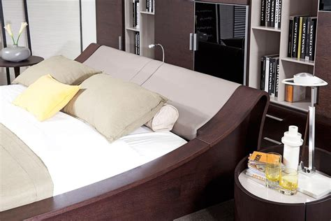 bed with cup holder geneva contemporary platform bed w lights cup holders and ipad holder