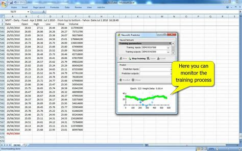 neural network stock price prediction in excel youtube