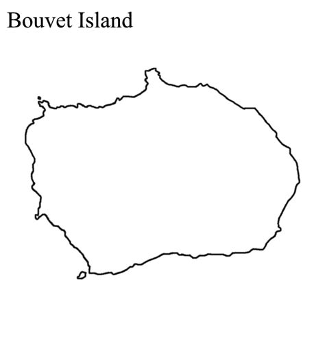 Island Outline by Outline Maps