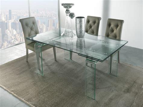tavolo di cristallo allungabile tavolo allungabile in vetro monviso emporio3 arredamenti