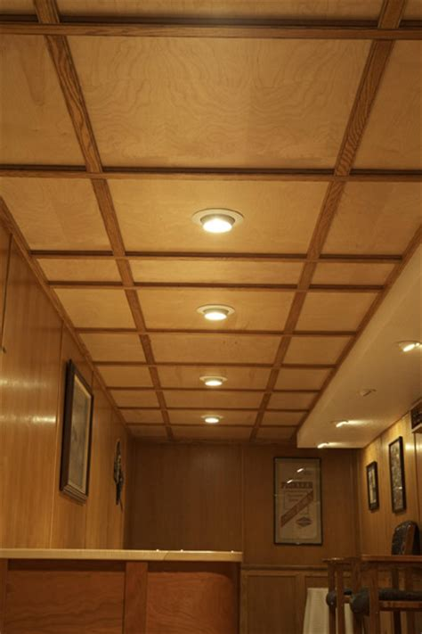 Wood Drop Ceiling Basement Remodeling Ideas Basement Ceiling Options