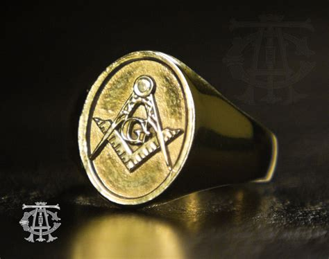 10k gold signature masonic ring master