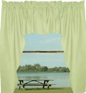 Green Swag Curtains Solid Light Green Colored Swag Window Valance Optional