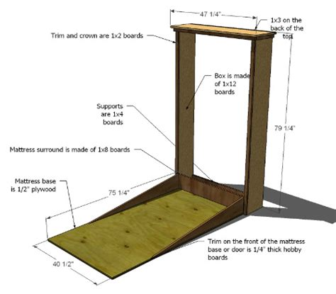 make your own murphy bed how to build your own twin murphy bed free printable