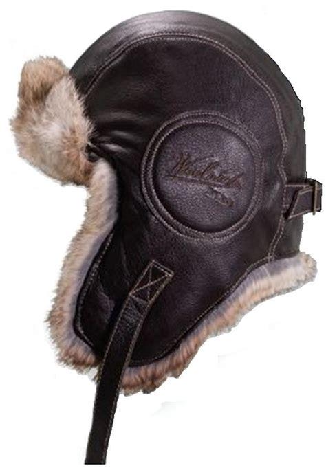 Winter Pilot Hat ww2 leather bomber cap just b cause