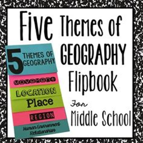 themes of geography foldable 1000 ideas about five themes of geography on pinterest