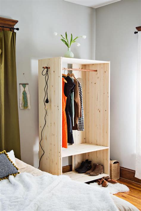 how to build an armoire closet wonderful wardrobe clothing rack projects decorating