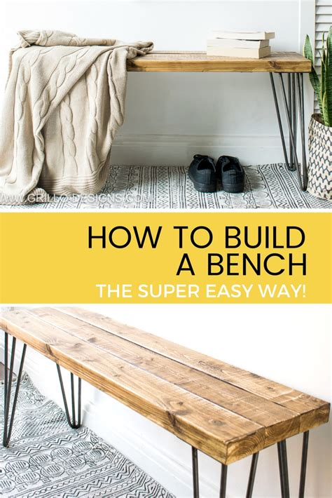 how to put legs on a bench build a bench the super easy way grillo designs