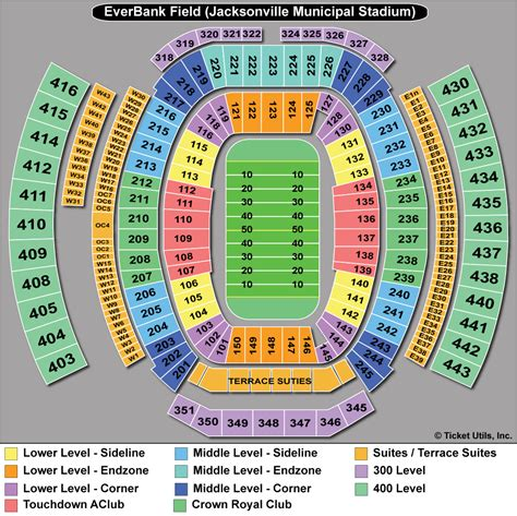 jaguars tickets seating chart venue map