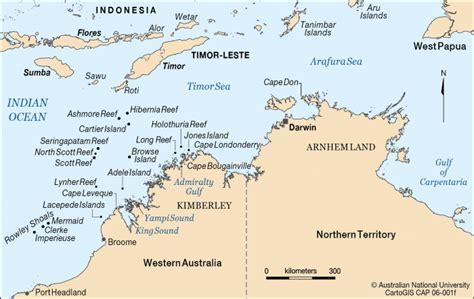 map of island and australia northwest australia cartogis services maps anu