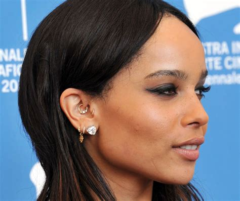 zoe kravitz ear piercings can this ear piercing stop you from getting headaches look