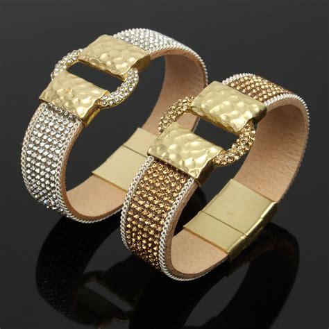 sparkling rhinestone wide belt buckle magnetic