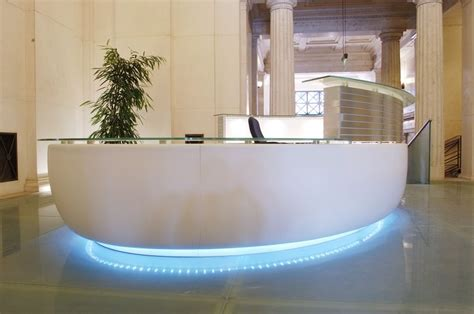 Office Desk Lamps by Bespoke Reception Desks Custom Reception Counters Fusion