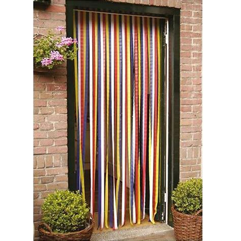 blind multicoloured door fly screen walk through
