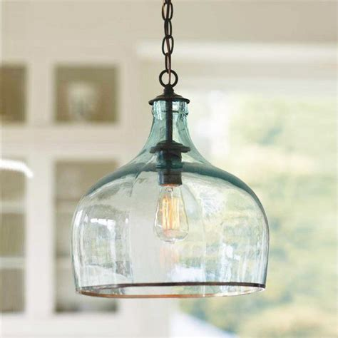 Glass Pendant Lights Kitchen Globo Glass Pendant Light Dotandbo Great Lines And I Like That You Can See The Bulb But