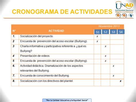cronograma de actividades blog de la facultad de presentaci 243 n del proyecto formulado proyecto sobre la