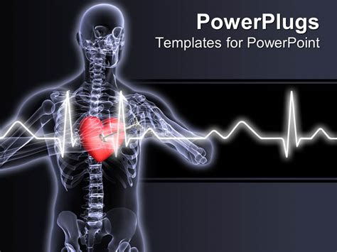 powerpoint themes free download x ray powerpoint template x ray vision of man with red heart
