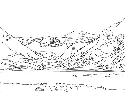 snow landscape coloring page wondeful nature scenery landscape coloring pages