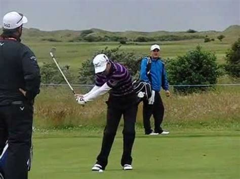luke donald iron swing luke donald golf swing short iron scottish open july