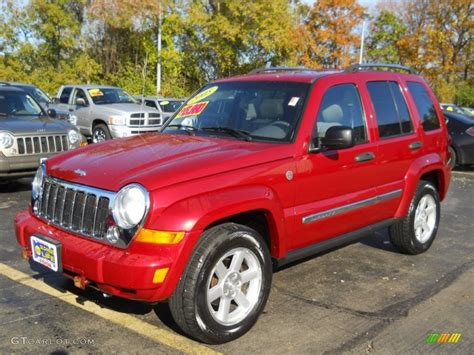 red jeep liberty 2005 2005 inferno red crystal pearl jeep liberty limited 4x4