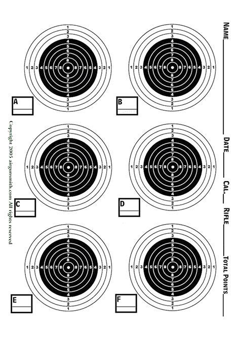 printable targets a4 rifle challenge glass oct till december 2014 airguns