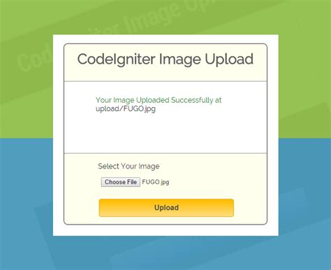 codeigniter tutorial upload image codeigniter image and file upload formget