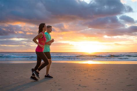 Running on the Beach to Stay Fit on Vacation