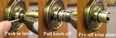 Door Knob No Screws by How To Remove A Doorknob With No Visible Screws