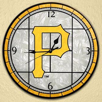pittsburgh pirates bedding pittsburgh pirates mlb 12 quot round art glass wall clock