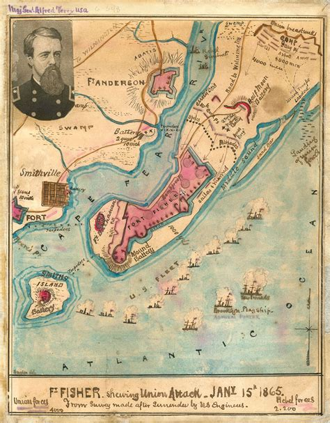 fort map fort fisher