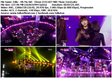 download mp3 closer oh my girl download perf oh my girl closer mbc music core 151107