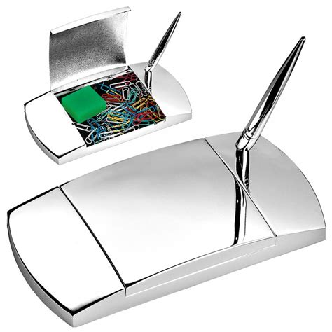 desk pen stand silver plated pen stand and desk organiser tartan trader