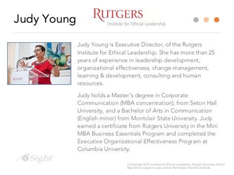 Cmd Rutgers Programs Mini Mba Business Essentials by Influencing Ethical Decision