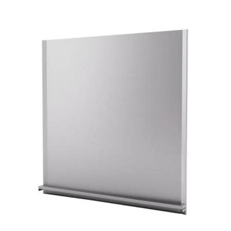 inoxia alpha 30 in x 30 in stainless steel backsplash