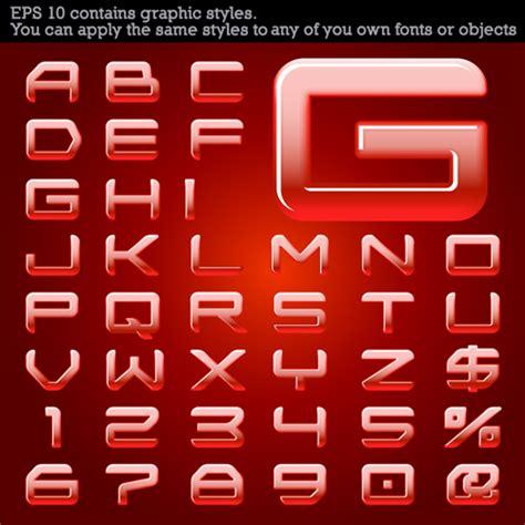 font design vector free download set of different alphabet elements design vector 01