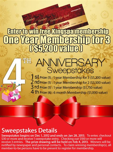 Dallas Sweepstakes - dallas king spa sauna 4th anniversary special event smart buying