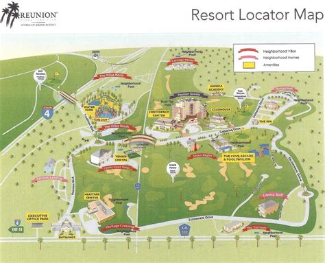 map of reunion florida image gallery reunion resort