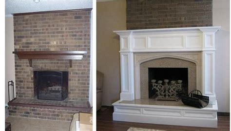 orland fireplace mantel and hearth remodel before and