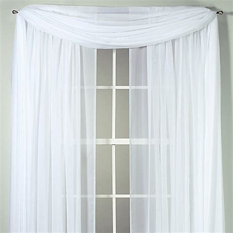 Voile Sheer Curtains Voile Sheer Window Curtain Panel And Scarf Bed Bath Beyond