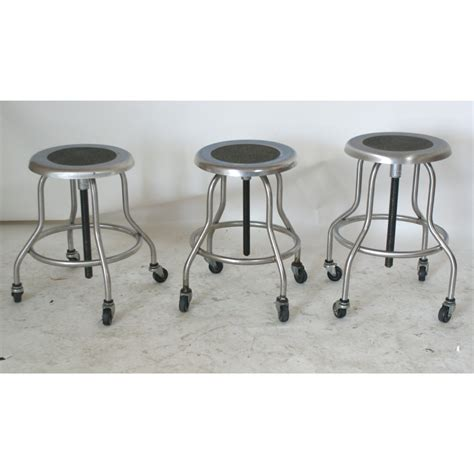 1 industrial wilson stainless steel adjustable stool